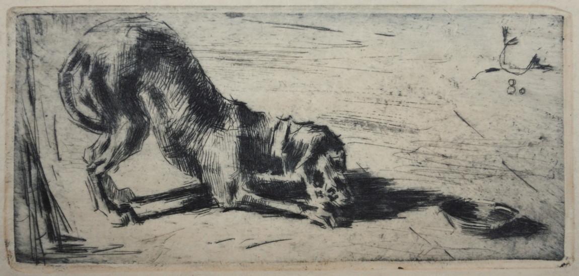 Luigi Conconi (Milano 1852 – 1917) Cane